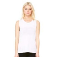LADIES' FLOWY SCOOP MUSCLE TANK