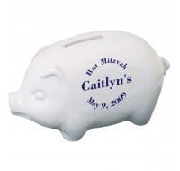 Piggy Bank Bar Mitzvah Favor