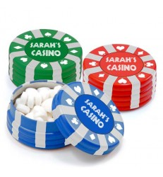 Poker Chip Mint Container