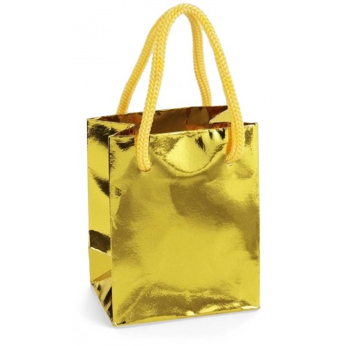 gold mini favor bag it s my mitzvah