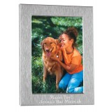 Photo Frame Brushed Silver  Bar Mitzvah Favor