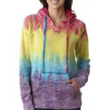 Ladies' Burnout Pullover Hooded Fleece