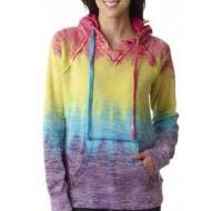 Ladies' Burnout Pullover Hooded Fleece