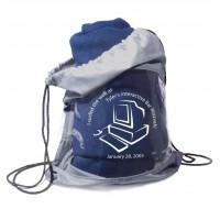 Fleece Blanket and Drawstring Bag Combo