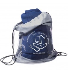Fleece Blanket and Drawstring Bag Combo