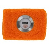 Digital Sweatband Watch w/ Silver Bezel