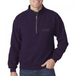 Sweatshirt Adult Heavy Blend 1/4 Zip with  Cadet Collar