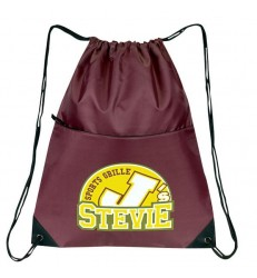 DRAWSTRING ZIPPERED TOTE