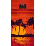 BEACH TOWELS STOCK FIBER-REACTIVE PRINTED