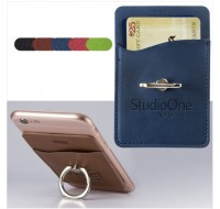 CARD HOLDER WITH METAL RING PHONE STAND