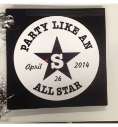 CUSTOM SIGN IN BOOK  PARTY LIKE AN ALL STAR