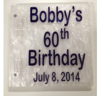 CUSTOM SIGN IN BOOK BOBBY'S 60TH
