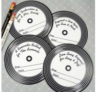 CD Song Request Coaster Favors