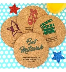 Round Cork Coaster Favors