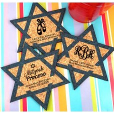 Star of David Cork Coaster Favors