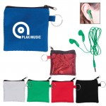 EAR BUDS IN ZIP POUCH