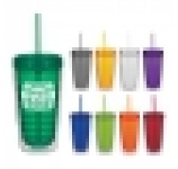 Double Wall Tumbler with Lid and Straw 16 OZ