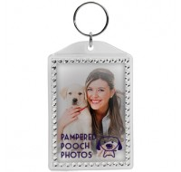 Rhinestone Snap-In Keytag