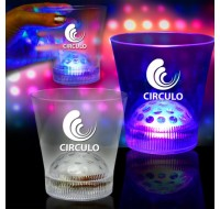 LIGHT UP LED DISCO BALL GLASS - 8 OZ