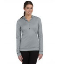 Ladies' 1/2 Zip Long-Sleeve Hoodie Sweatshirt