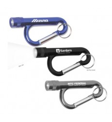 METAL CARABINER FLASHLIGHT WITH SPLIT RING