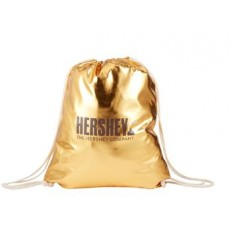 METALLIC DRAWSTRING BACKPACK