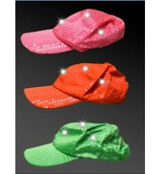 Neon-Sequinned LED Baseball Cap