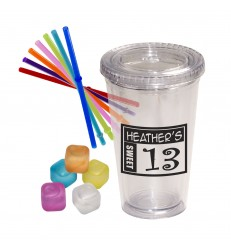 PARTY STURDY SIPPER AND ICE CUBES SET