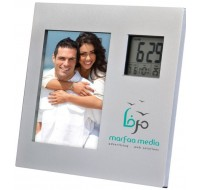 PHOTO FRAME WITH TWO WAY CLOCK
