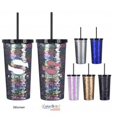 SEQUIN TUMBLER  24 OZ.