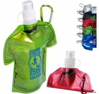 COLLAPSIBLE T-SHIRT SHAPED 16 OZ WATER BOTTLE