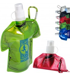T-SHIRT SHAPED COLLAPSIBLE 16 OZ WATER BOTTLE