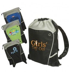 Two-Tone Drawstring Backpack