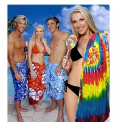 Velour Tie Dye Beach Towel