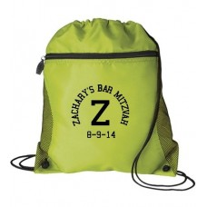 MESH POCKET NEON DRAWSTRING BAG