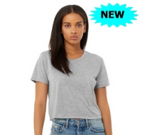 Women's Flowy Canvas Cropped T-Shirt