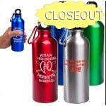 ALUMINUM WATER BOTTLE WITH CARABINER